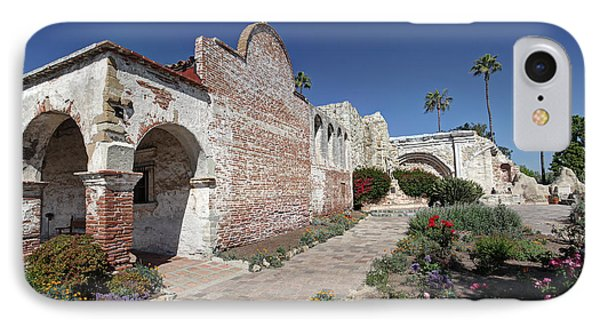 IPhone Case featuring the photograph Mission Plaza Capistrano by Martin Konopacki