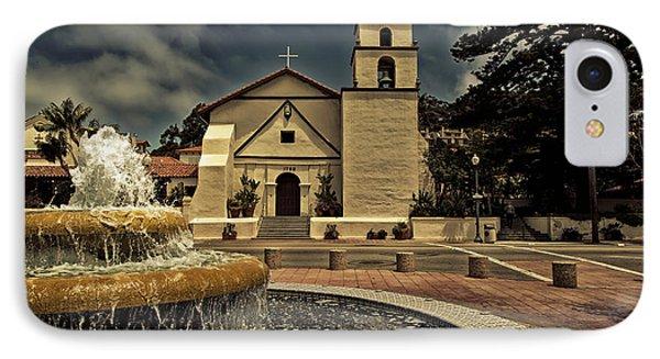 Mission San Buenaventura IPhone Case by Mountain Dreams