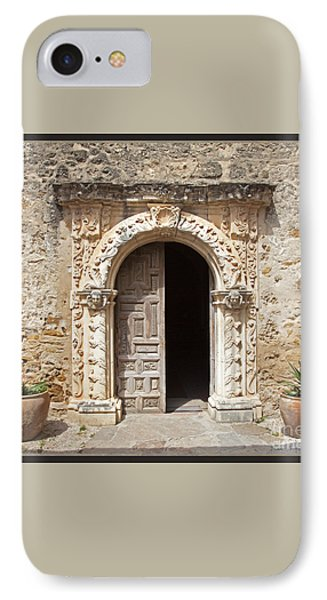 Mission San Jose Chapel Entry Doorway Phone Case by John Stephens