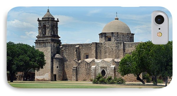 Mission San Jose Profile In San Antonio Missions National Historical Park IPhone Case by Shawn O'Brien