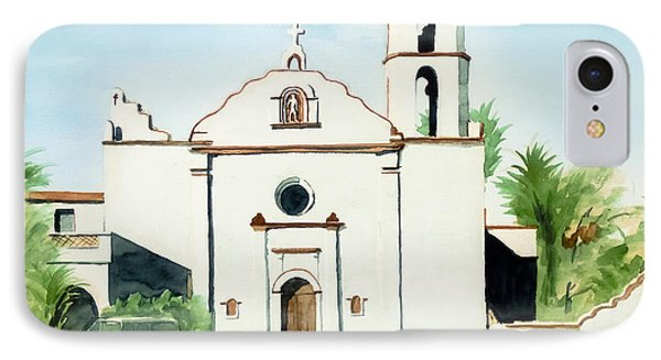 Mission San Luis Rey Colorful II Phone Case by Kip DeVore