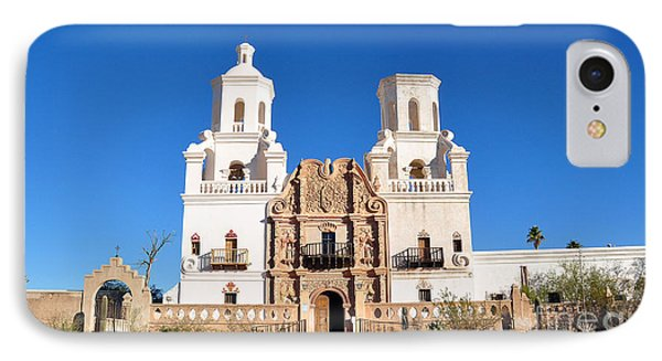 Mission San Xavier Del Bac IPhone Case by Gina Savage