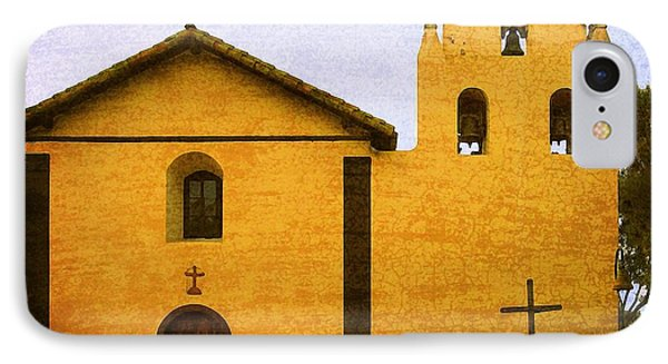 Mission Santa Inez IPhone Case by Timothy Bulone