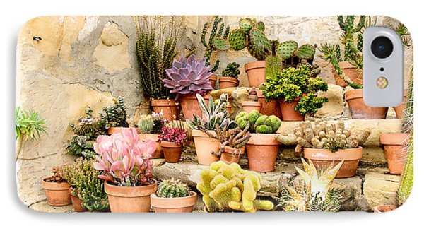 IPhone Case featuring the photograph Mission Succulents by Vinnie Oakes