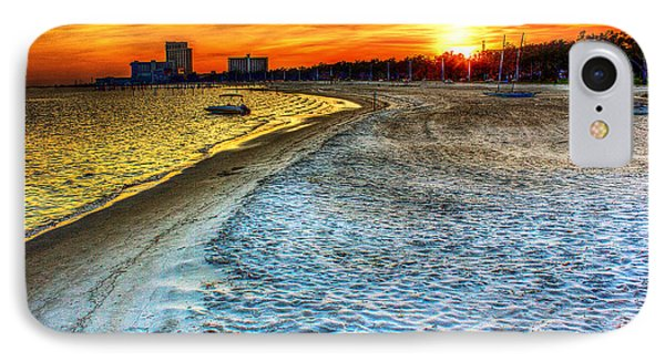 Beach - Coastal - Sunset - Mississippi Gold IPhone Case by Barry Jones