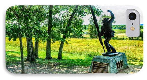 Mississippi Memorial Gettysburg Battleground Phone Case by Bob and Nadine Johnston