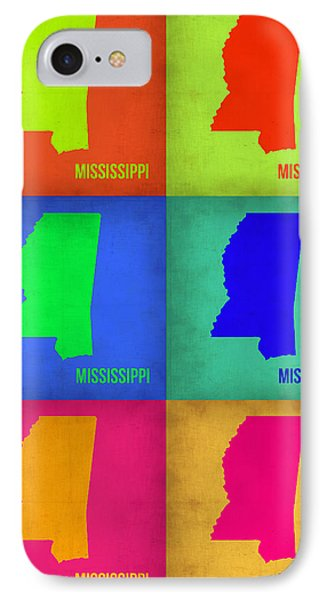Mississippi Pop Art Map 1 IPhone Case by Naxart Studio