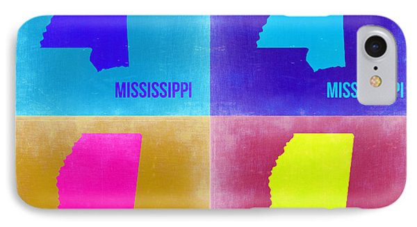 Mississippi Pop Art Map 2 Phone Case by Naxart Studio