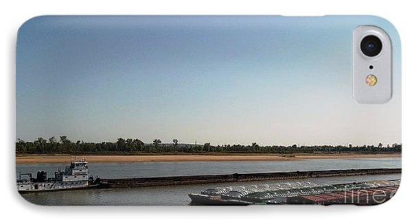 IPhone Case featuring the photograph Mississippi River Barge by Kelly Awad