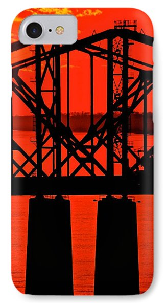 IPhone Case featuring the photograph Mississippi River Bridge At Natchez by Jim Albritton