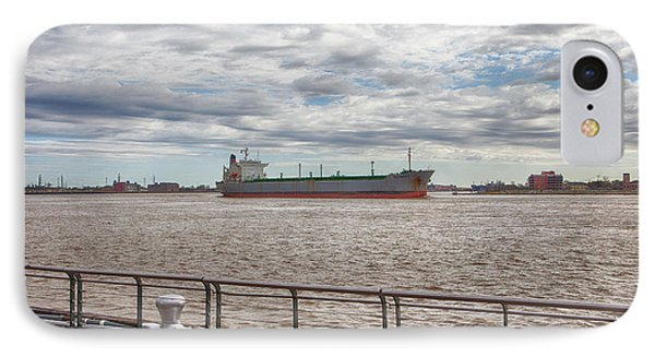 Mississippi River In New Orleans Phone Case by Kay Pickens