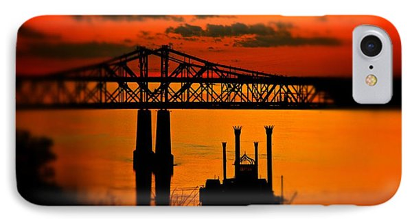 IPhone Case featuring the photograph Mississippi River Natchez Sunset by Jim Albritton