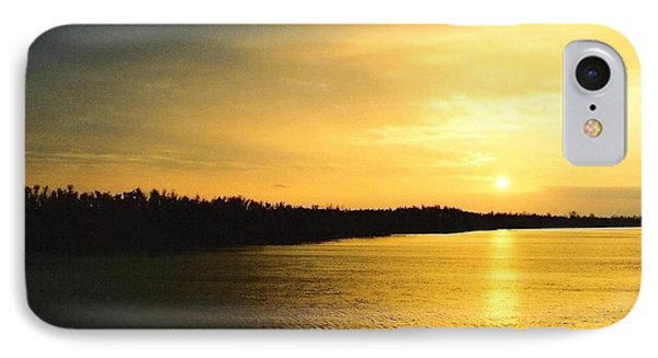 IPhone Case featuring the photograph Sunrise Over The Mississippi River Post Hurricane Katrina Chalmette Louisiana Usa by Michael Hoard