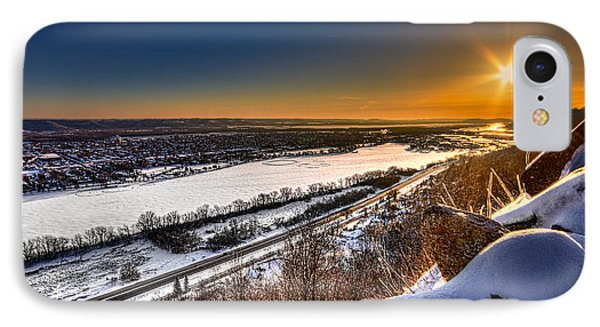 Mississippi River Sunrise IPhone Case by Tom Gort