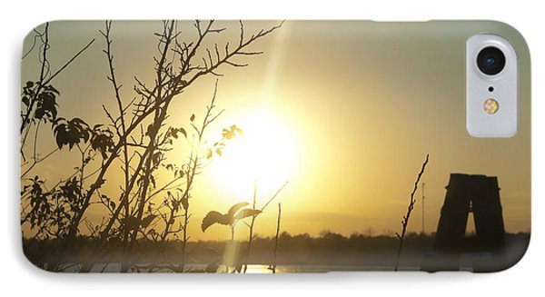 IPhone Case featuring the photograph Mississippi River Sunset by Ray Devlin