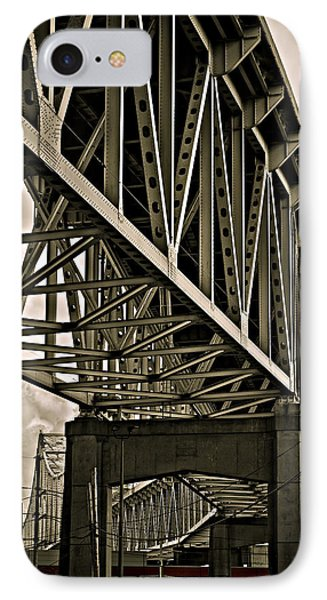 IPhone Case featuring the photograph Mississippi Truss In New Orleans by Ray Devlin