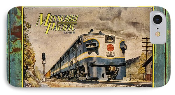 Missouri Pacific Lines Sign Engine 309 Dsc02854 IPhone Case by Greg Kluempers