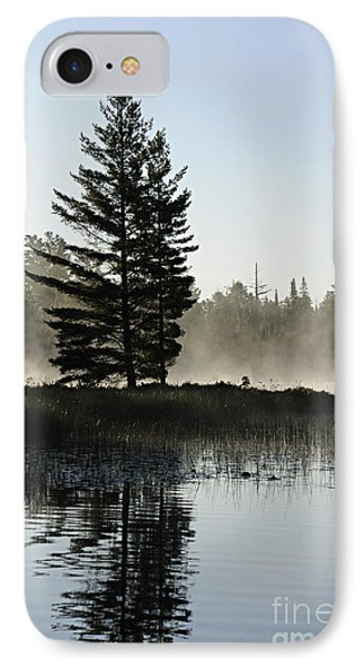 Mist And Silhouette Phone Case by Larry Ricker