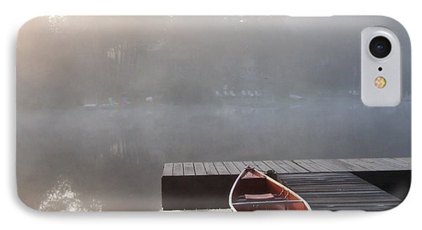 Mist Floating Over The Lake IPhone Case by Catherine Gagne