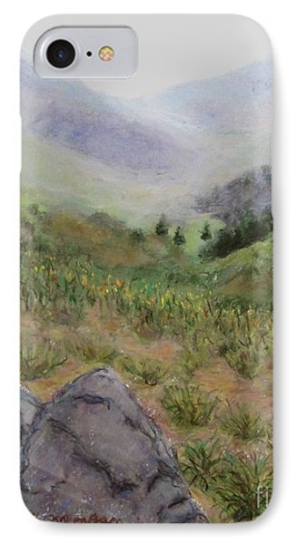Mist In The Glen IPhone Case by Laurie Morgan