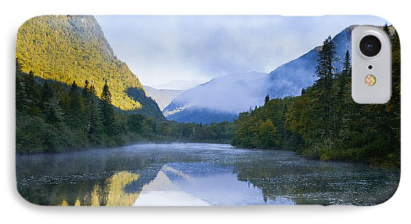 Mist On Jacques-cartier River At Dawn IPhone Case