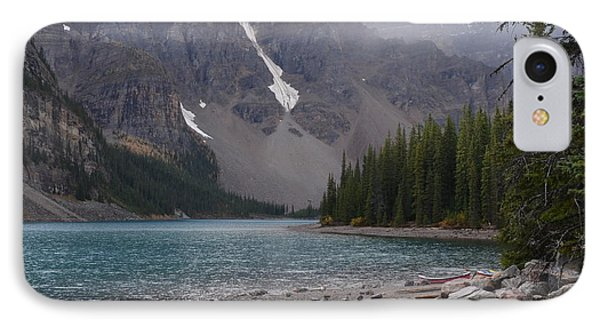 Mist Over Lake Moraine IPhone Case by Cheryl Miller
