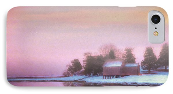 Mist Over The Boathouse IPhone Case by Michael Petrizzo