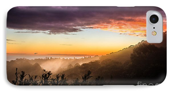 Mist Rising At Dusk IPhone Case by Peta Thames
