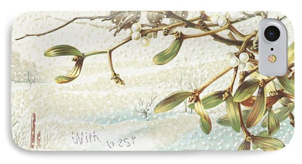 Mistletoe In The Snow IPhone Case by English School