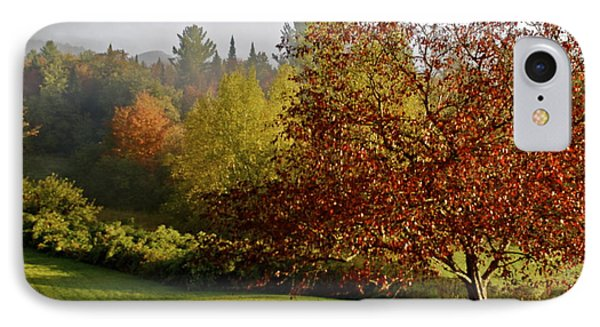 IPhone Case featuring the photograph Misty Autumn Morning by Alice Mainville