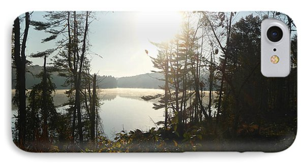 IPhone Case featuring the photograph Misty Autumn Morning by Margie Avellino
