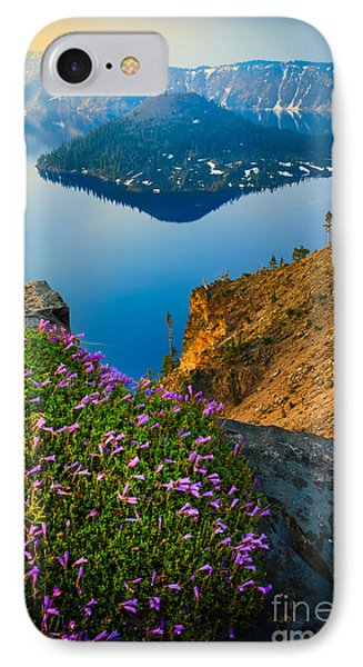 Misty Crater Lake IPhone Case by Inge Johnsson