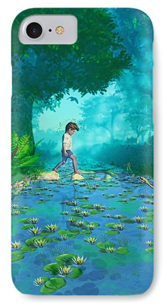 Misty Crossing IPhone Case by Ken Morris