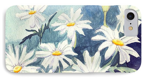 IPhone Case featuring the painting Misty Daisies by Katherine Miller