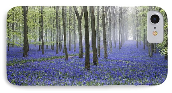 Misty Dawn Bluebell Wood IPhone Case