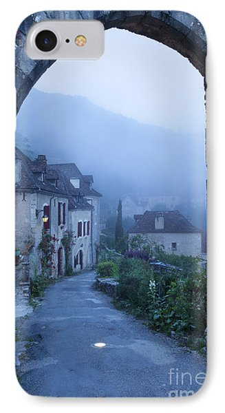 Misty Dawn In Saint Cirq Lapopie Phone Case by Brian Jannsen