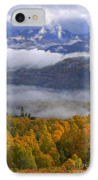 Misty Day In The Cairngorms Phone Case by Louise Heusinkveld