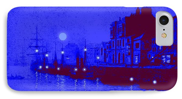 Misty Evening Whitby Harbor 1893 IPhone Case by John A Grimshaw - L Brown