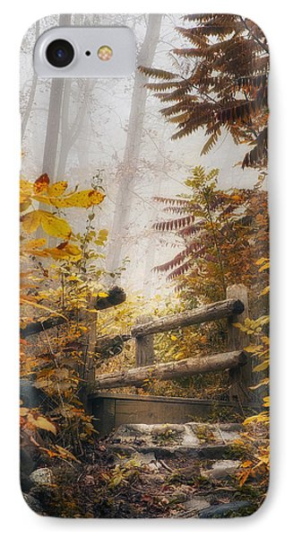 Misty Footbridge IPhone Case by Scott Norris