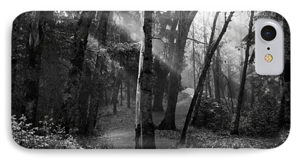 Misty Forest Trail IPhone Case by Leland D Howard