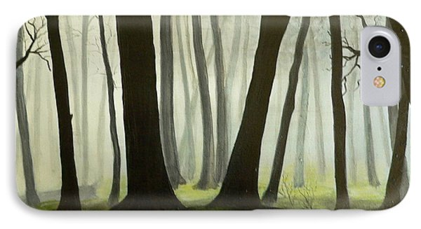 IPhone Case featuring the painting Misty Forrest by Dan Wagner