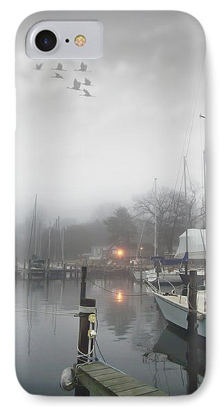 Misty Harbor Lights Phone Case by Brian Wallace