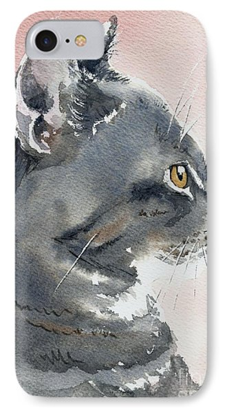 IPhone Case featuring the painting Misty In Profile by Lynn Babineau