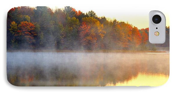 Misty Morning At Stoneledge Lake IPhone Case by Terri Gostola