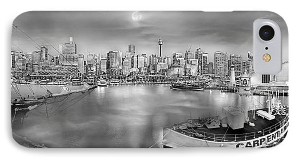 Misty Morning Harbour - Bw IPhone Case by Az Jackson