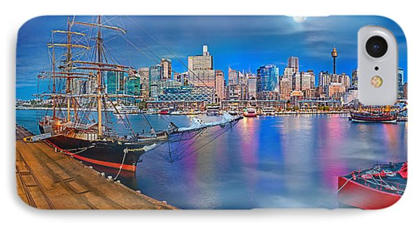 Misty Morning Harbour IPhone Case