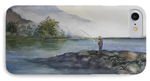 IPhone Case featuring the painting Misty Morning by Jan Cipolla