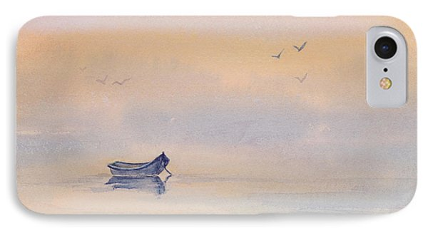 Misty Morning Peace Watercolor Painting Phone Case by Michelle Wiarda
