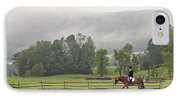 Misty Morning Ride IPhone Case by Joan Davis