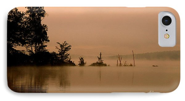 Misty Morning Solitude  IPhone Case by Neal Eslinger